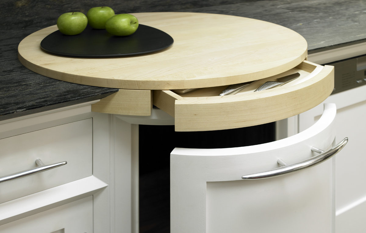 Modena Chop Board & Drawer (open)-69995